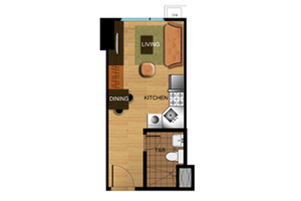 Avida Atria Tower Studio Floor Plan